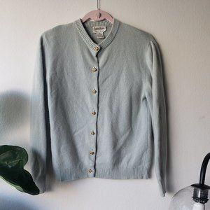 Neiman marcus cashmere cardigan with gold buttons